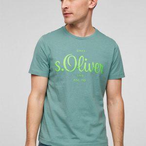 S-Oliver muška majica za leto zelene boje